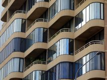 Enclosed Balconies, Modern Apartment Building Stock Images