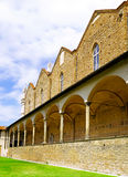 Enclosed court of Basilica Santa Croce ,Florence. Enclosed court of Basilica di Santa Croce (Basilica of the Holy Cross) , Italy. Panorama Royalty Free Stock Photography