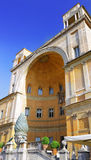 Enclosed court with cone Gallery's of Vatican Royalty Free Stock Photo