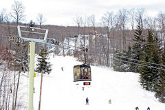 Enclosed Gondola ski lift, Stratton Ski Village Royalty Free Stock Images