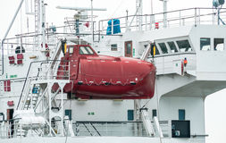 Enclosed Lifeboat for ship. Royalty Free Stock Photos