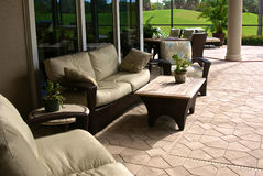 Enclosed outside living area Royalty Free Stock Image