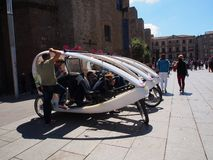 Enclosed Pedal Bikes, Barcelona Royalty Free Stock Photo