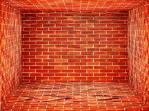 Enclosed space Red Brick wall Royalty Free Stock Photos