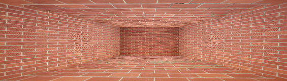 Enclosed space Red Brick wall Royalty Free Stock Images