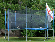 Enclosed Trampoline Royalty Free Stock Images
