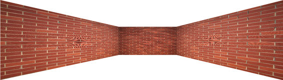 Enclosing brick wall for designer Stock Photos