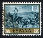 Enclosure by Joaquin Sorolla. SPAIN - CIRCA 1971: stamp printed by Spain, shows Enclosure by Joaquin Sorolla, circa 1971 Stock Images