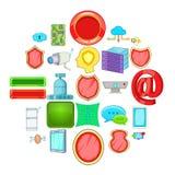 Encoding icons set, cartoon style. Encoding icons set. Cartoon set of 25 encoding vector icons for web isolated on white background royalty free illustration