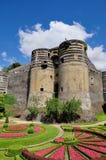 Encoleriza el castillo francés Imagenes de archivo