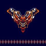 Encolure de vecteur et conception de frontières pour la mode Copie tribale ethnique de cou Embellissement de coffre dans le style illustration de vecteur