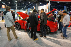 Encombrement autour de Nissan 370Z images stock