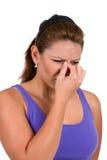 Encombrement de sinus photo stock