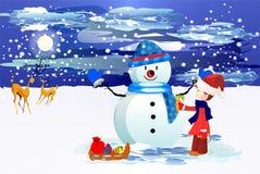 Encontrando bonecos de neve Fotos de Stock