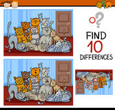 Encontrando desenhos animados do jogo das diferenças Imagem de Stock Royalty Free