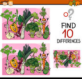 Encontrando desenhos animados do jogo das diferenças Fotografia de Stock
