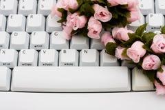 Encontrando o amor em linha Fotos de Stock Royalty Free
