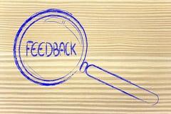 Encontrando o feedback Fotografia de Stock Royalty Free