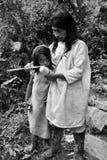 Encontrando os indígenas na maneira a Ciudad Perdida a cidade perdida Foto de Stock Royalty Free