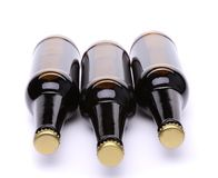 Encontrando-se três garrafas do close-up da cerveja Foto de Stock Royalty Free