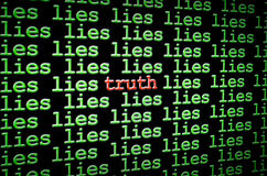 Encontrando a verdade entre as mentiras Foto de Stock Royalty Free