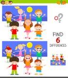 Encontrar el juego de las diferencias con los niños felices libre illustration