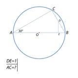 Encontrar la longitud de la CA del acorde stock de ilustración