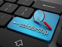Encontre a bolsa de estudos em linha Fotos de Stock Royalty Free