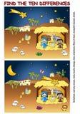 Encontre a diferença ilustração stock