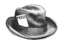 Encontre a imprensa ilustração stock