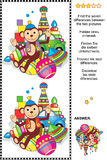Encontre o enigma visual das diferenças - brinquedos retros Foto de Stock Royalty Free