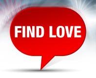 Encontre o fundo vermelho da bolha do amor ilustração royalty free