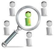 Encontre a pessoa adequada Imagem de Stock Royalty Free