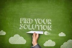 Encontre seu conceito da solução Foto de Stock Royalty Free