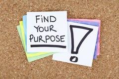 Encontre seus finalidade/objetivos aspirações dos sonhos Imagens de Stock