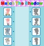 Encontre a sombra correta Fotografia de Stock
