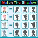 Encontre a sombra correta Imagens de Stock Royalty Free