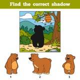 Encontre a sombra correta Animal do achado pela sombra Foto de Stock