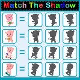 Encontre a sombra correta do hipopótamo Imagens de Stock