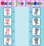 Encontre a sombra correta do hipopótamo Fotos de Stock