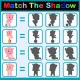 Encontre a sombra correta do hipopótamo Fotos de Stock Royalty Free