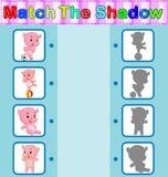 Encontre a sombra correta do hipopótamo Imagens de Stock Royalty Free