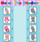 Encontre a sombra correta do hipopótamo Imagem de Stock