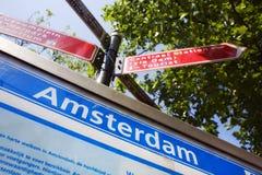 Encontre sua maneira em Amsterdão Fotos de Stock Royalty Free