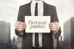 Encontre sua paixão no papel imagem de stock