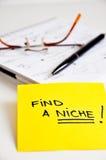 Encontre um nicho de mercado Fotografia de Stock