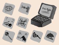 Encontre um passatempo no Internet Imagens de Stock