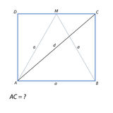 Encontre um retângulo diagonal ABCD Fotos de Stock Royalty Free