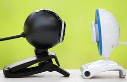 Encontro através das câmeras de Web Imagens de Stock