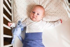Encontro bonito do bebê fotografia de stock royalty free